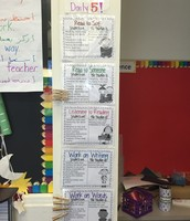 A peek at our Daily 5 choice board