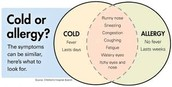 How do you know when you have an allergy instead of a common cold?