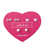 Mini Pearl Earring Trio Set