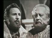King Basilio (on right), Clotaldo (on left)