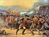 Indian fighting the french