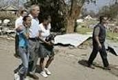 George W. Bush, the helper?