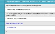 Carver Elementary - Special Education Help