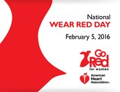 Feb. 5th -GO RED Day!