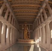 Representation of inner Temple: Ionic Pillars
