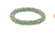 Vintage Twist Bracelet, Turquoise or Coral, $39