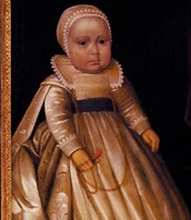 Mary as a baby