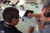 Daniel Cordova (SOH) and Andres Parra (ELH) Build a Circuit