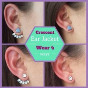 Crescent Ear Jackets $35.00