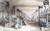 The inside of a Cotton Mill