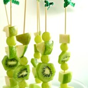 green fruit kebabs