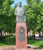 Statue of Pavlov commmerating his Nobel Prize