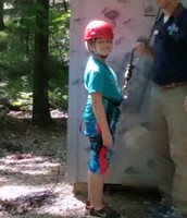 Gage is ready to climb!