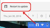 Restart to Update!