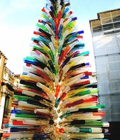 cool fake tree made out of plastic tubes