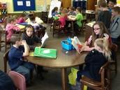 First grade reading buddies!