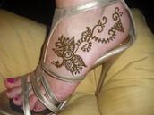 Henna en el Lado de Pie
