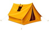 Tent with zipper