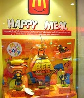 Happy meal with The Bee Movie toys