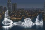 Uno de los lugares exóticos de Dubai es su fuente