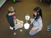Measuring the weights of food!