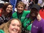 GCS' own Donna Martin, NCTIES board member, posing with Lande and Teena