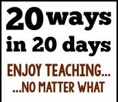 Twenty Ways in Twenty Days