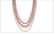 Ginger Layering Necklace - Rose Gold