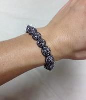 Nikita Stretch Bracelet - hematite $20