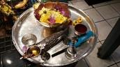 A Hindu Puja Plate