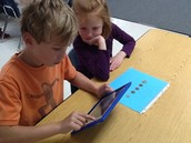 using our own first grade class set of iPads