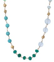 Aileen Necklace - Turq