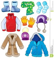 Pictures of winter clothes.