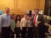 Students with Senator Kowall and Mr. Michalski