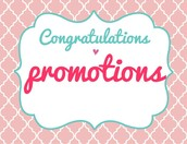 Promotions!