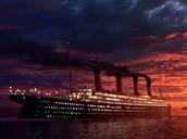 The Titanic a few hours before she hit the iceburge.