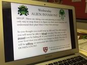 Ms. Carter's Alien Invasion