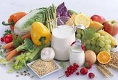 importance to whole grains, fruits, vegetables and milk