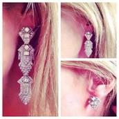 Casablanca chandelier earrings