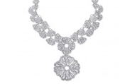 Geneve Lace Pendant Necklace, Silver, $98