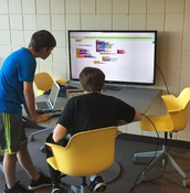 Students using app inventor to build software to address a real world problem