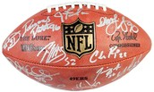 Defensive Unit Hall of Fame Signed Football
