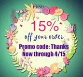 15% Off Your Next Order -- Until April 15th!