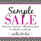 Sample Sale 50-70% off all samples