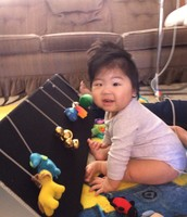 Miles with his toys!