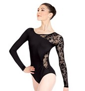 This  is an ellagent  laced leotard that a dancer can wear anytime she goes to practice