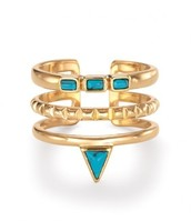 Turquoise Stone Stacked Ring, £35