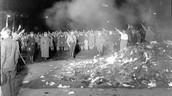 Here are some pictures of the book burning.