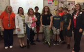 Nurse Powers and colleagues along with AVID 8 students