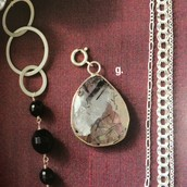 Stunning Stone Pendant-Black Quartz
